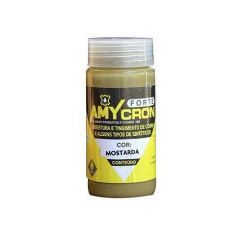 Tinta Amycron para Couro Legítimo e Alguns Sintéticos- Cor Mostarda 90ml - Amy
