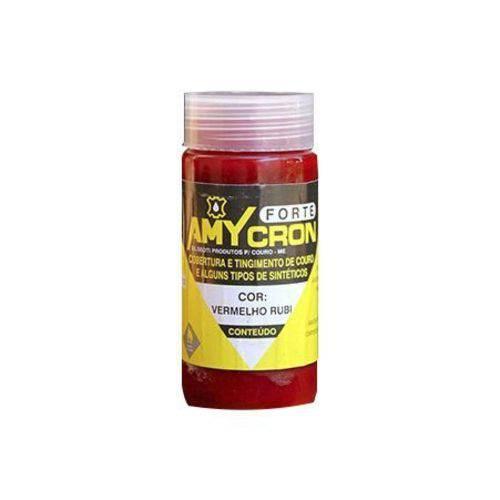 Tinta Amycron para Couro Legítimo e Alguns Sintéticos- Cor Vermelho 90ml - Amy
