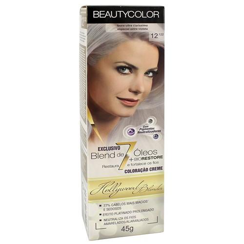 Tinta Beauty Color 12.122 Louro Ultra Claríssimo Especial Extra Violeta