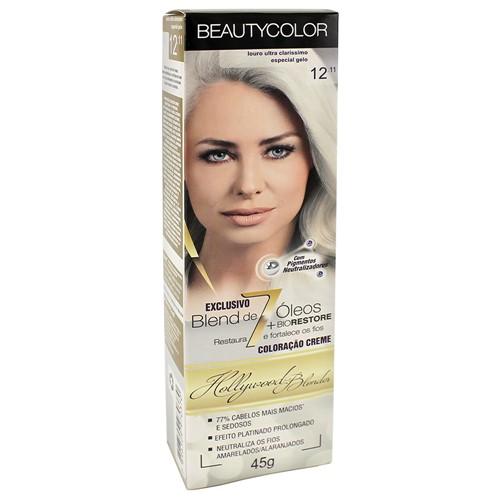 Tinta Beauty Color 12.11 Louro Ultra Claríssimo Especial Gelo