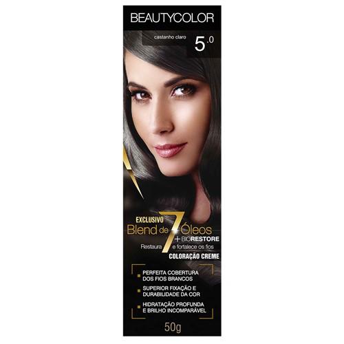 Tinta Beauty Color 5.0 Castanho Claro
