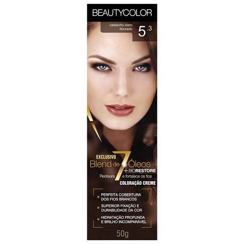 Tinta Beauty Color 5.3 Castanho Claro Dourado