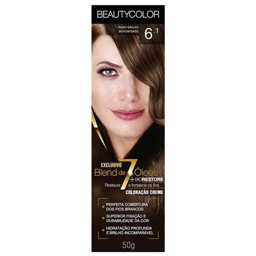 Tinta Beauty Color 6.1 Louro Escuro Acinzentado