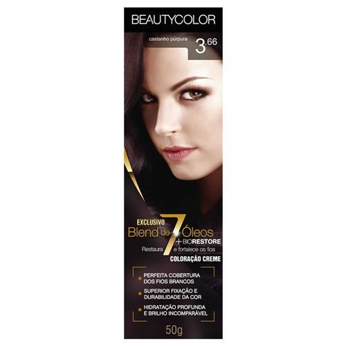 Tinta Beauty Color 3.66 Castanho Púrpura