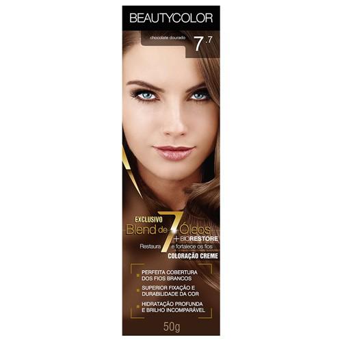 Tinta Beauty Color 7.7 Chocolate Dourado