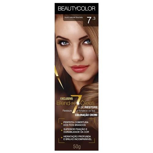 Tinta Beauty Color 7.3 Louro Dourado