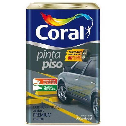 Tinta Coral Acrílica Pinta Piso, Fosco, Verde Quadra, Balde 18 Litros