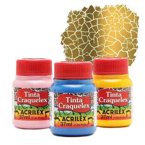 Tinta Craquelex - 37ml - Dourado Solar - 598 - Acrilex