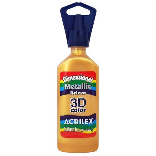 Tinta Dimensional 3D Metallic 35ml 532 Ouro Acrilex 900688