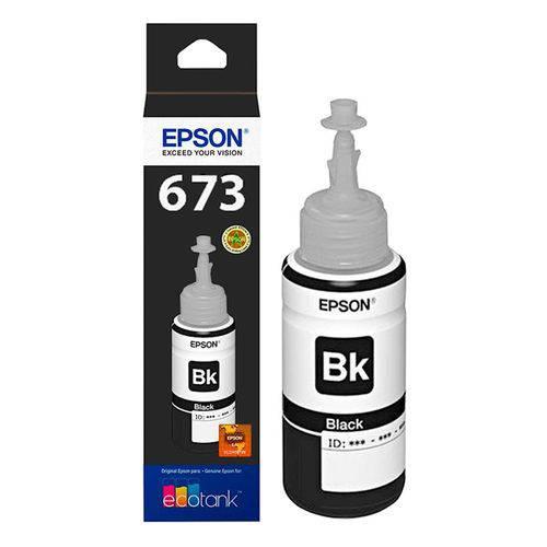 Tinta Epson T 673 T673120 Preto L800 L810 L1800 L805 L850 Original 70ml