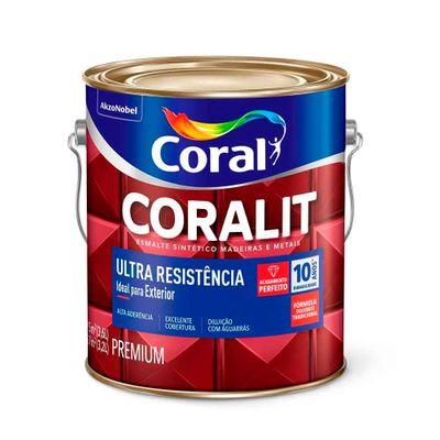 Tinta Esmalte Coralit Alto Brilho - Verniz Transparente - 900ml - Coral