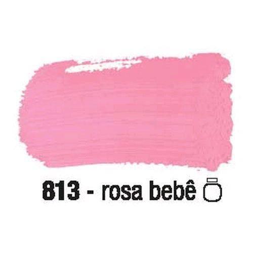 Tinta Fosca para Artesanato Acrilex 100 Ml Rosa Bebê 813
