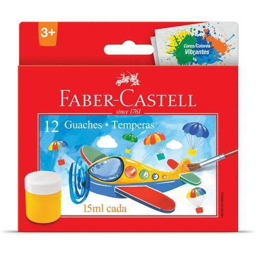 Tinta Guache (15 Ml) 12 Cores Faber-Castell