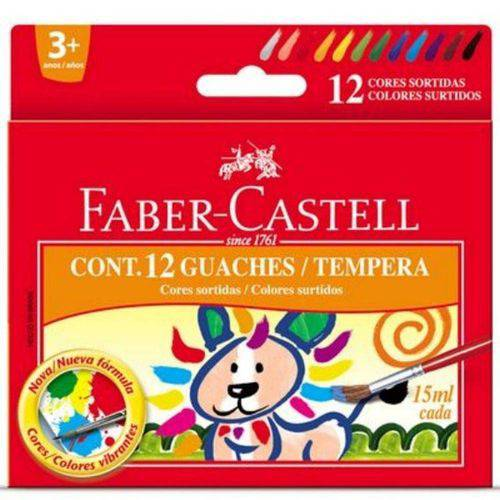 Tinta Guache 12 Cores - Faber Castell