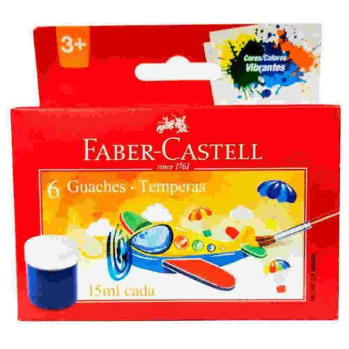 Tinta Guache 15ml 6 Cores Faber Castell