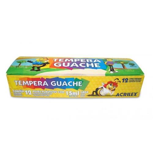 Tinta Guache 15ml. Estojo C/12 Cores