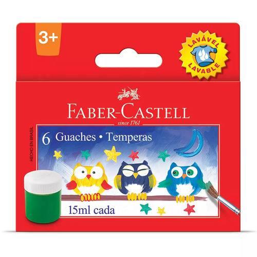 Tinta Guache 6 Cores 15ml Faber Castell