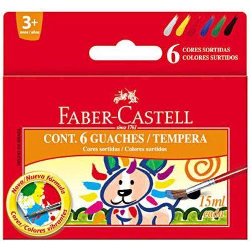 Tinta Guache 6 Cores 15ml Faber-castell