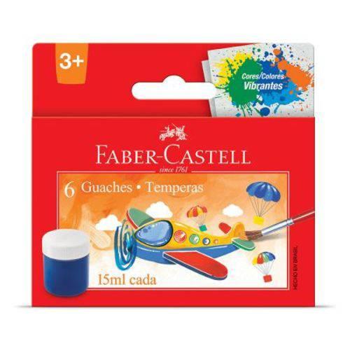 Tinta Guache - Estojo - HT161106 - com 6 Cores - Faber-Castell
