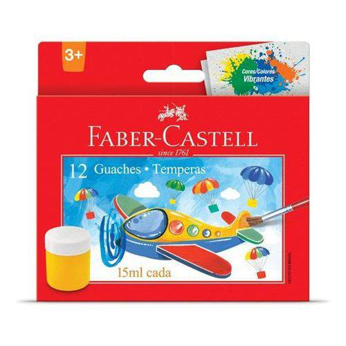 Tinta Guache Faber Castell 15ml - 12 Cores