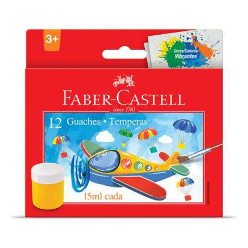 Tinta Guache - HT161112 - Estojo com 12 Cores - Faber-Castell