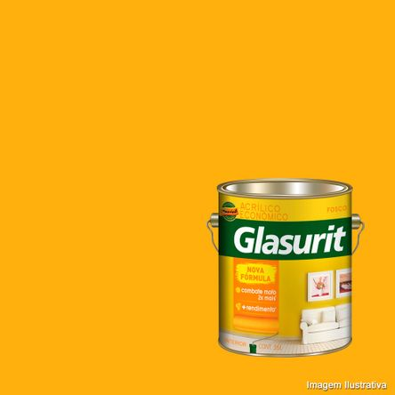 Tinta Látex Glasurit Acrílico 3,6 Litros Amarelo Ouro Suvinil