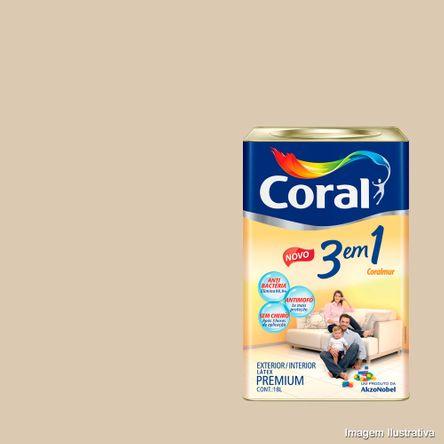 Tinta Látex Premium 3 em 1 Acrílica 18 Litros Areia Coral