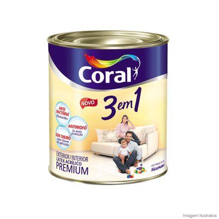 Tinta Látex Premium 3 em 1 Acrílica 900ml Branco Coral