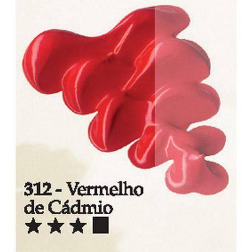 Tinta Óleo Acrilex 20ml-312-Vermelho de Cadm