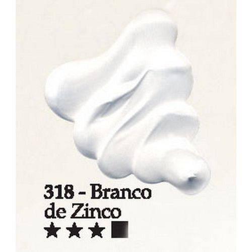 Tinta Óleo Acrilex 20ml-318-Branco de Zinco