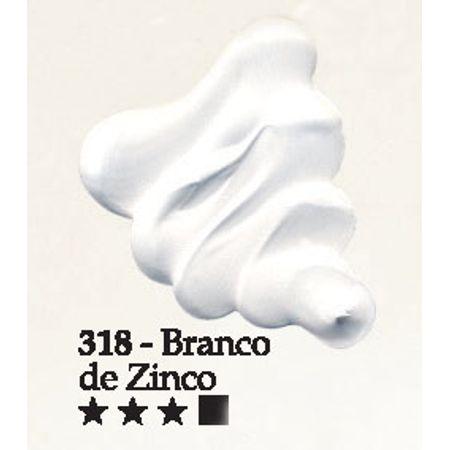 Tinta Óleo Acrilex 20ml 318 - Branco de Zinco