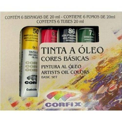 Tinta Óleo Corfix Estojo 006 Cores 300214