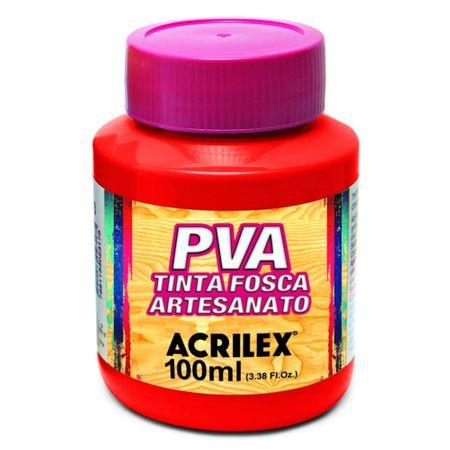 Tinta para Artesanato PVA 100 Ml Acrilex - Vermelho Vivo