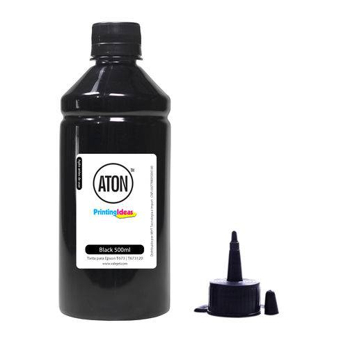 Tinta para Epson Bulk Ink T673 T673120 Black Aton 500ml