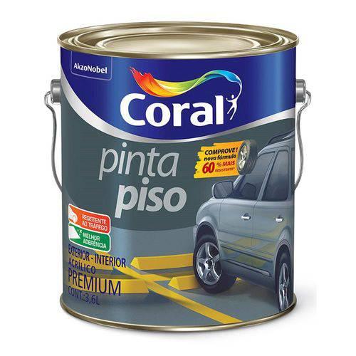 Tinta para Piso Fosco Verde 3,6 Litros - CORAL