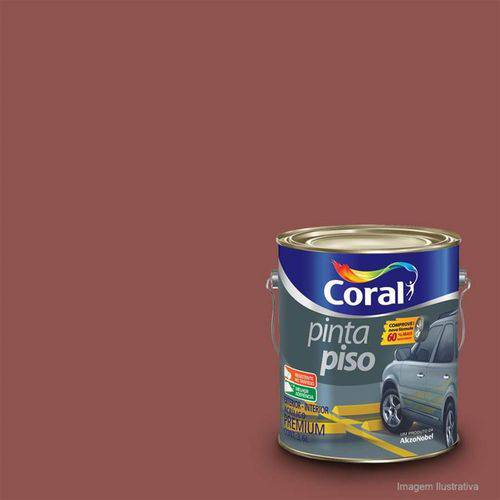 Tinta para Piso Fosco Vermelho 3,6 Litros - CORAL