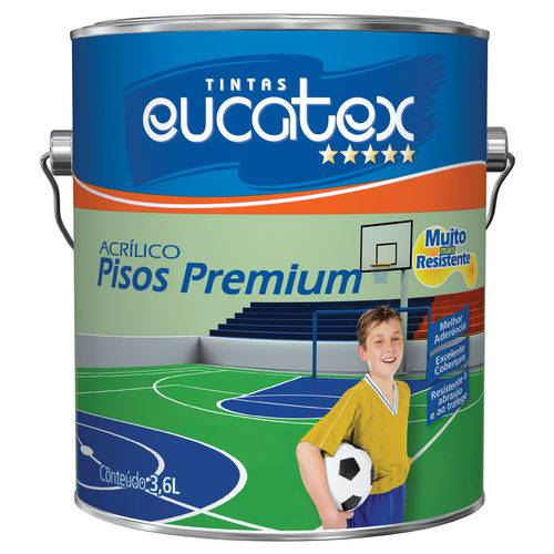 Tinta para Piso Interior e Exterior Eucatex 3,6 L Preto