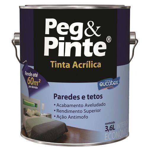 Tinta Peg&pinte Acrilica Verde Piscina Galão 3,6 Litros Eucatex