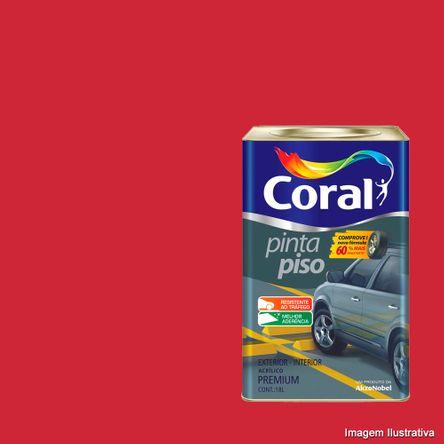 Tinta Pinta Piso 18 Litros Vermelho Coral