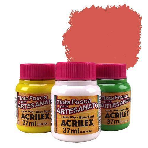 Tinta Plástica PVA - 37ml - Vermelho Vivo - 507 - Acrilex