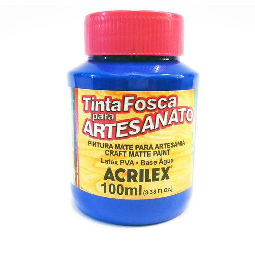 Tinta PVA Acrilex Azul Ultramar 100ML