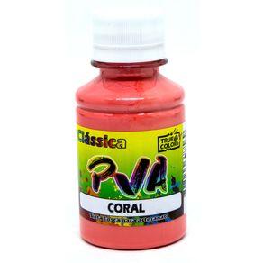 Tinta PVA Fosca 100 Ml Tons de Vermelho, Rosa, Violeta True Colors CORAL 7229