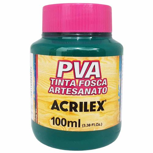Tinta PVA Fosca 100ml 511 Verde Bandeira Acrilex 996071