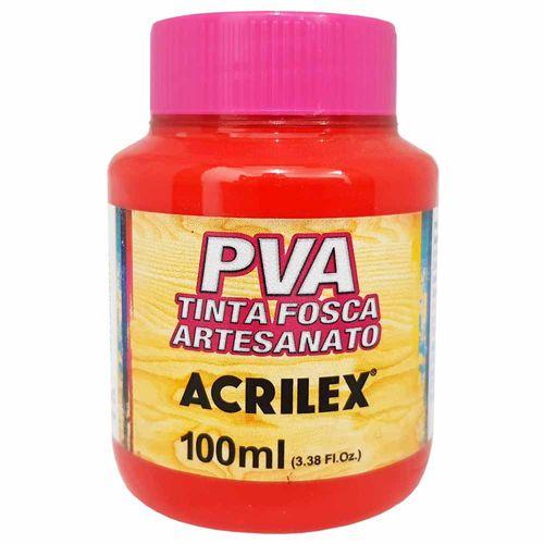 Tinta PVA Fosca 100ml 541 Vermelho Vivo Acrilex 996496