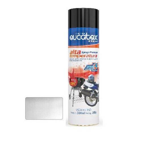 Tinta Spray Aluminio Alta Temperat Eucatex