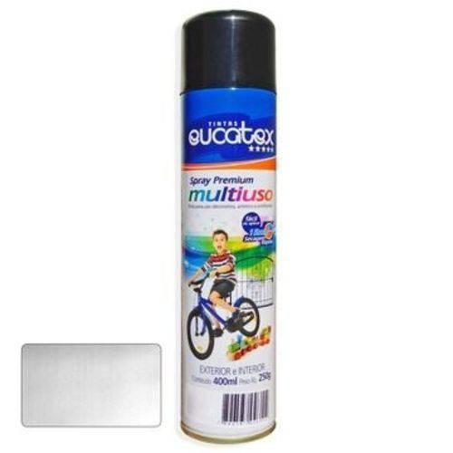Tinta Spray Aluminio Brilhante Eucatex