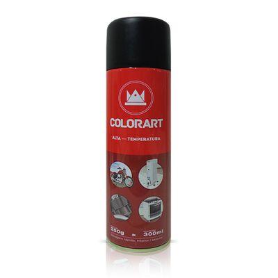 Tinta Spray Colorart Alta Temperatura 300ml - Preto Fosco