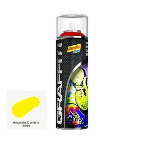 Tinta Spray Graffiti 400ml Mundial Prime - Amarelo Canário