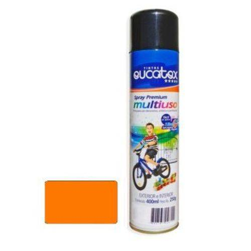 Tinta Spray Laranja Luminoso Eucatex