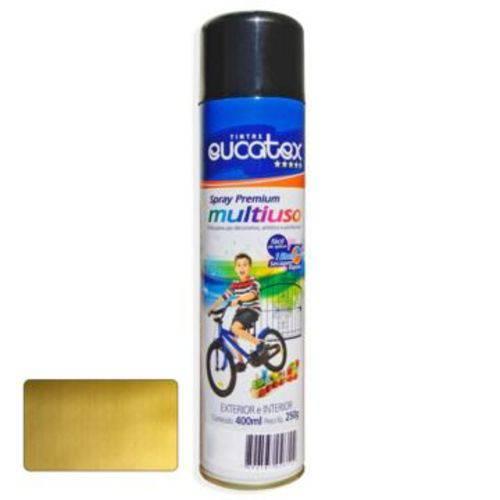 Tinta Spray Ouro Metalico Eucatex